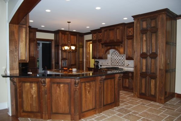 natural walnut kitchen cabinets hackert amp sons quality custom cabinetry 23711